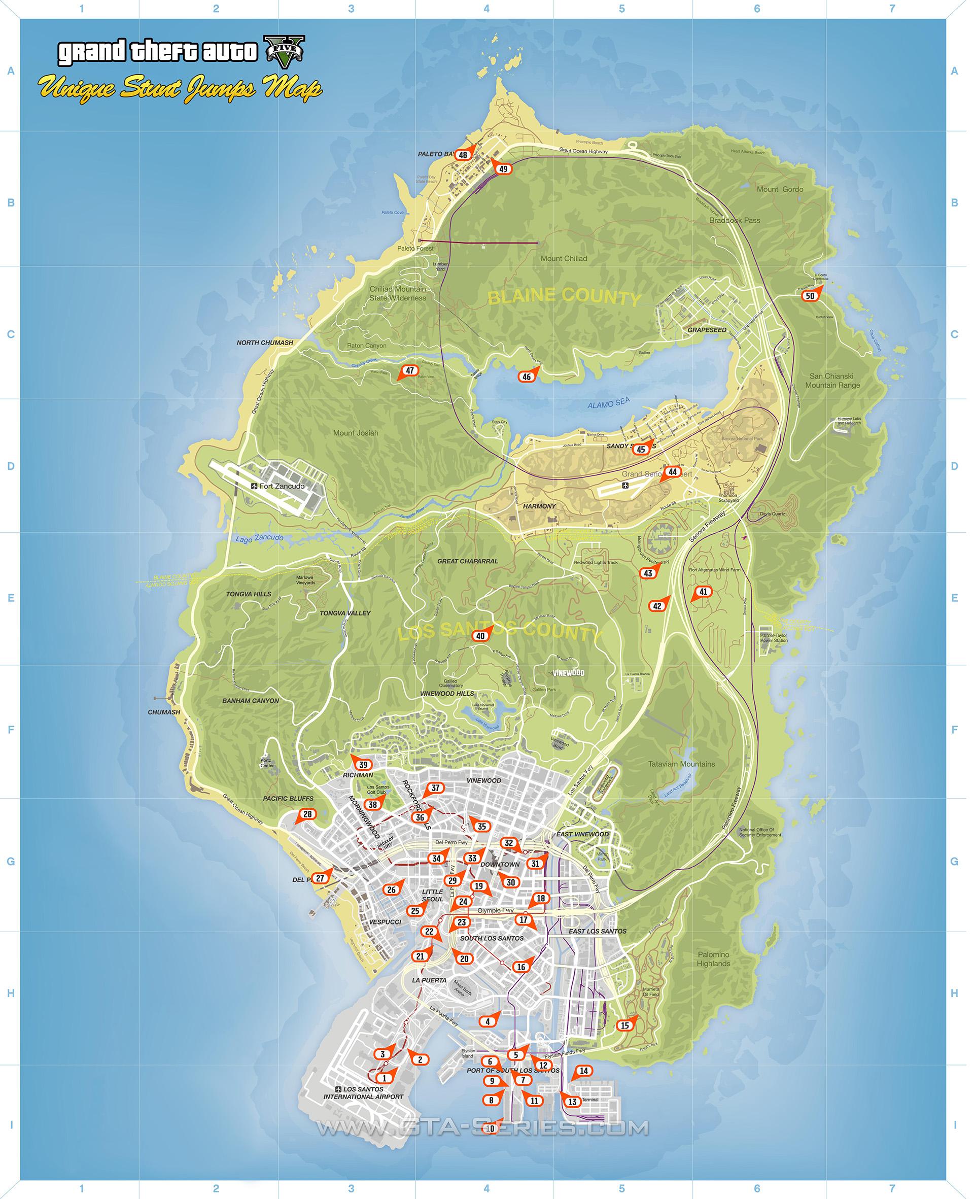 GTASeriescom  GTA 5  Mappe tematiche