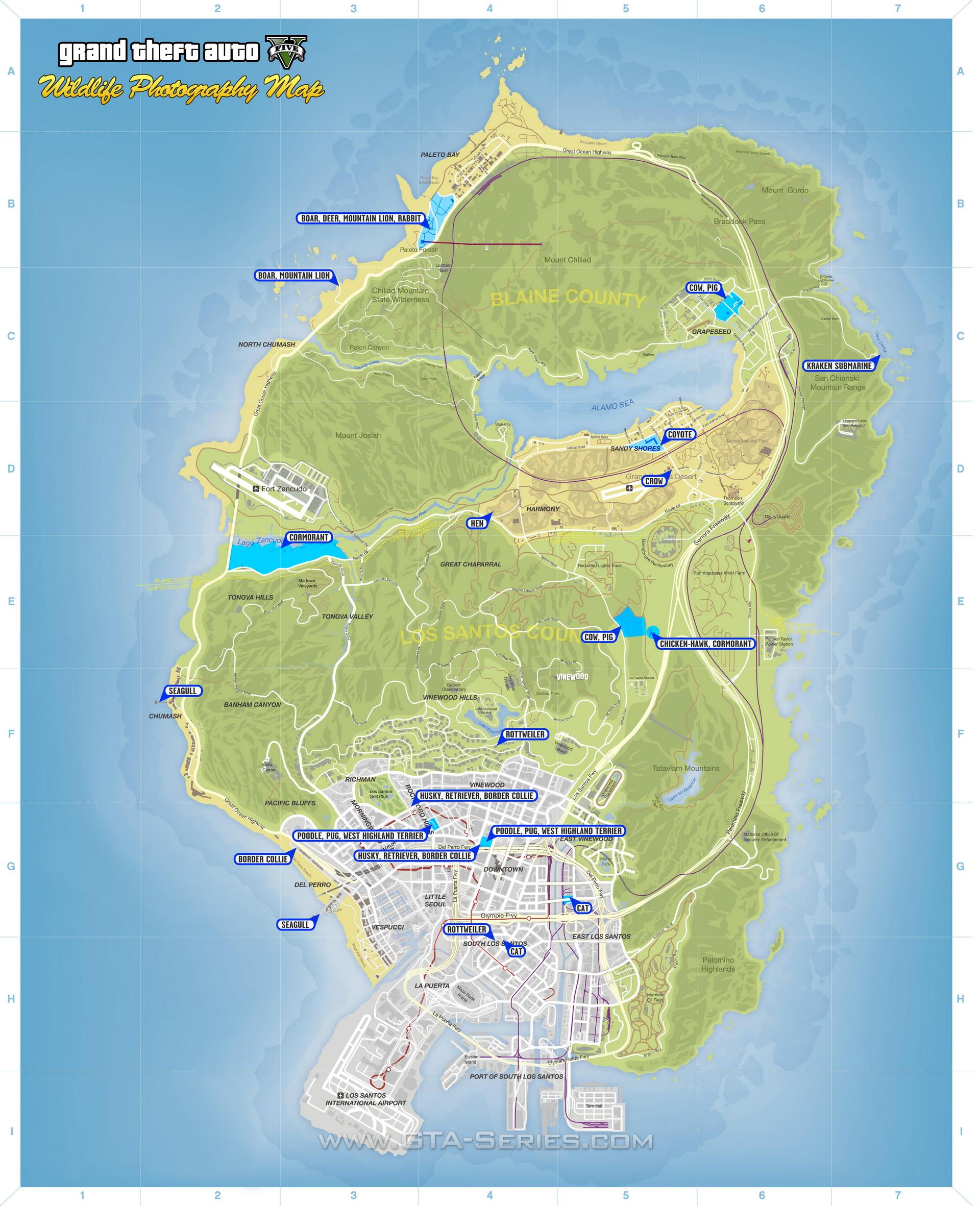 Gta V Elicottero Mappa : Gta series mappe tematiche