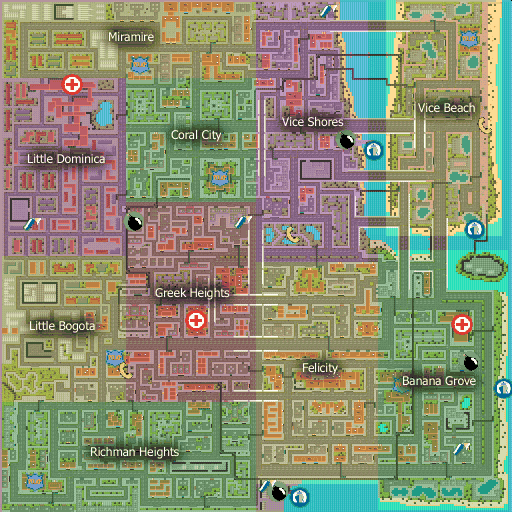 Grand theft auto 1 map
