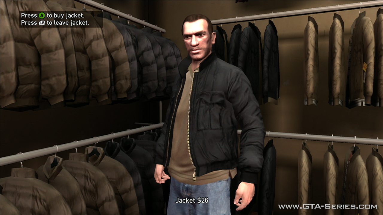 Gta 4 clothing stores map