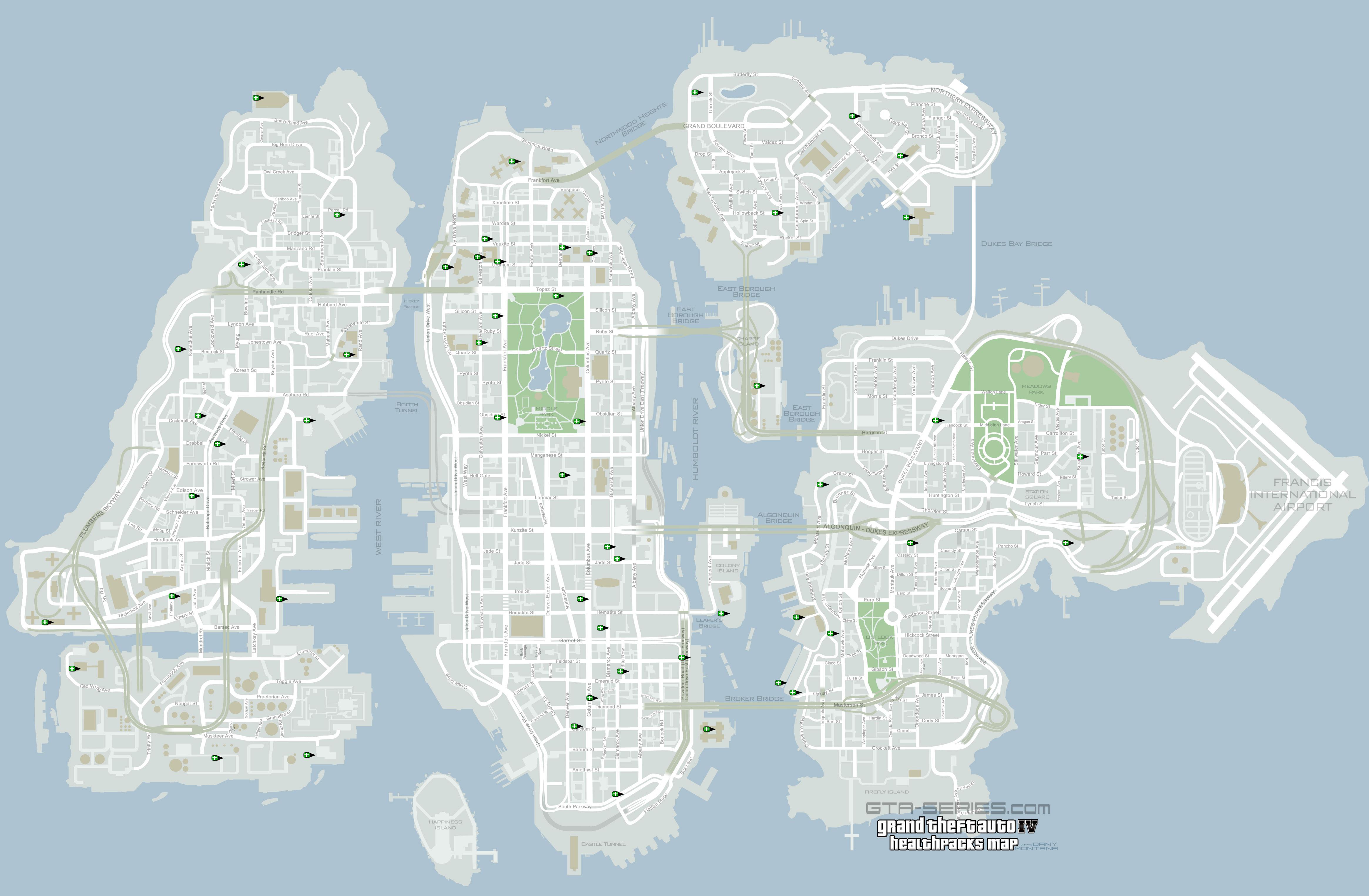 GTA-Series.com » GTA IV » Mappe tematiche
