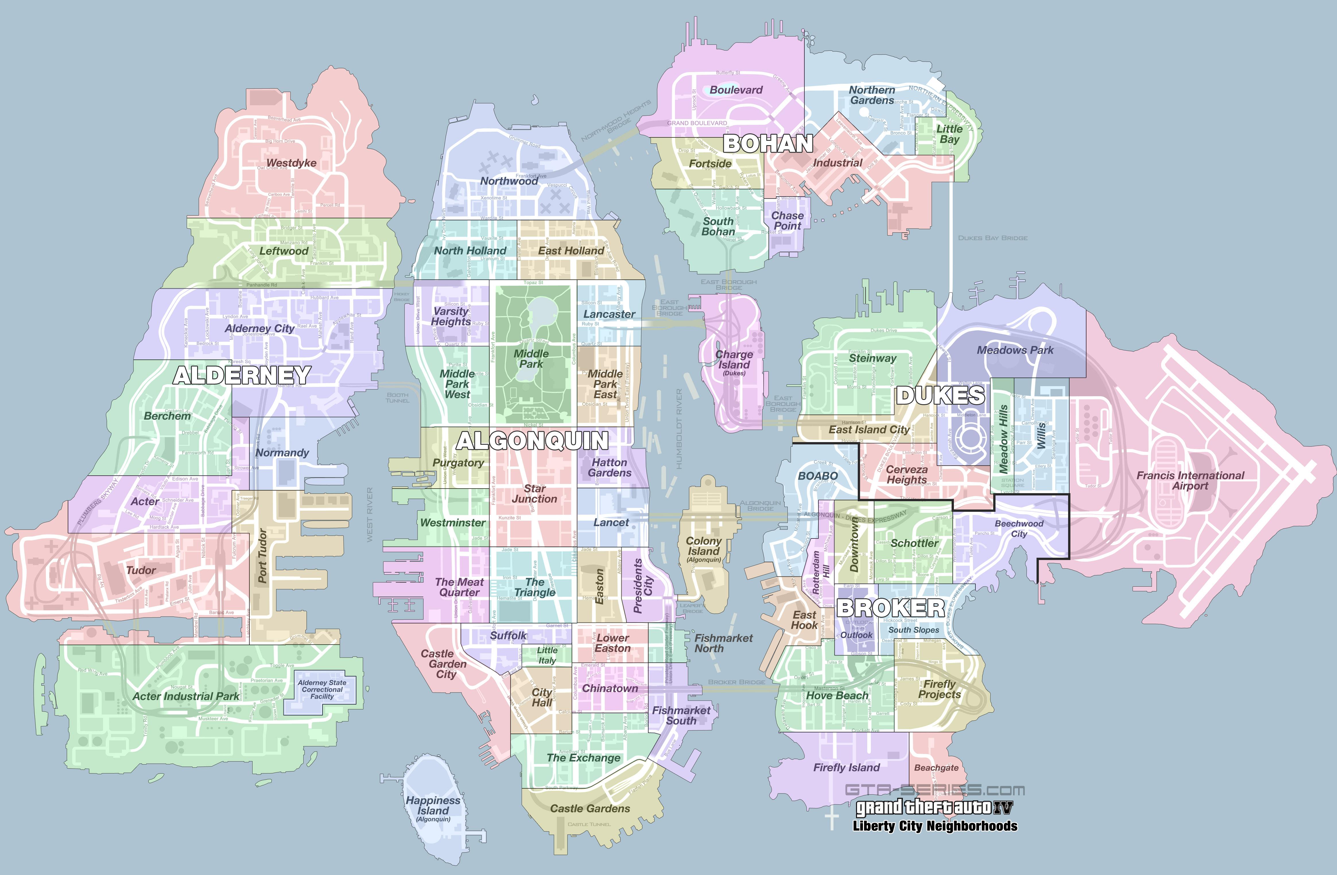 GTA-Series com » GTA IV » Mappe tematiche