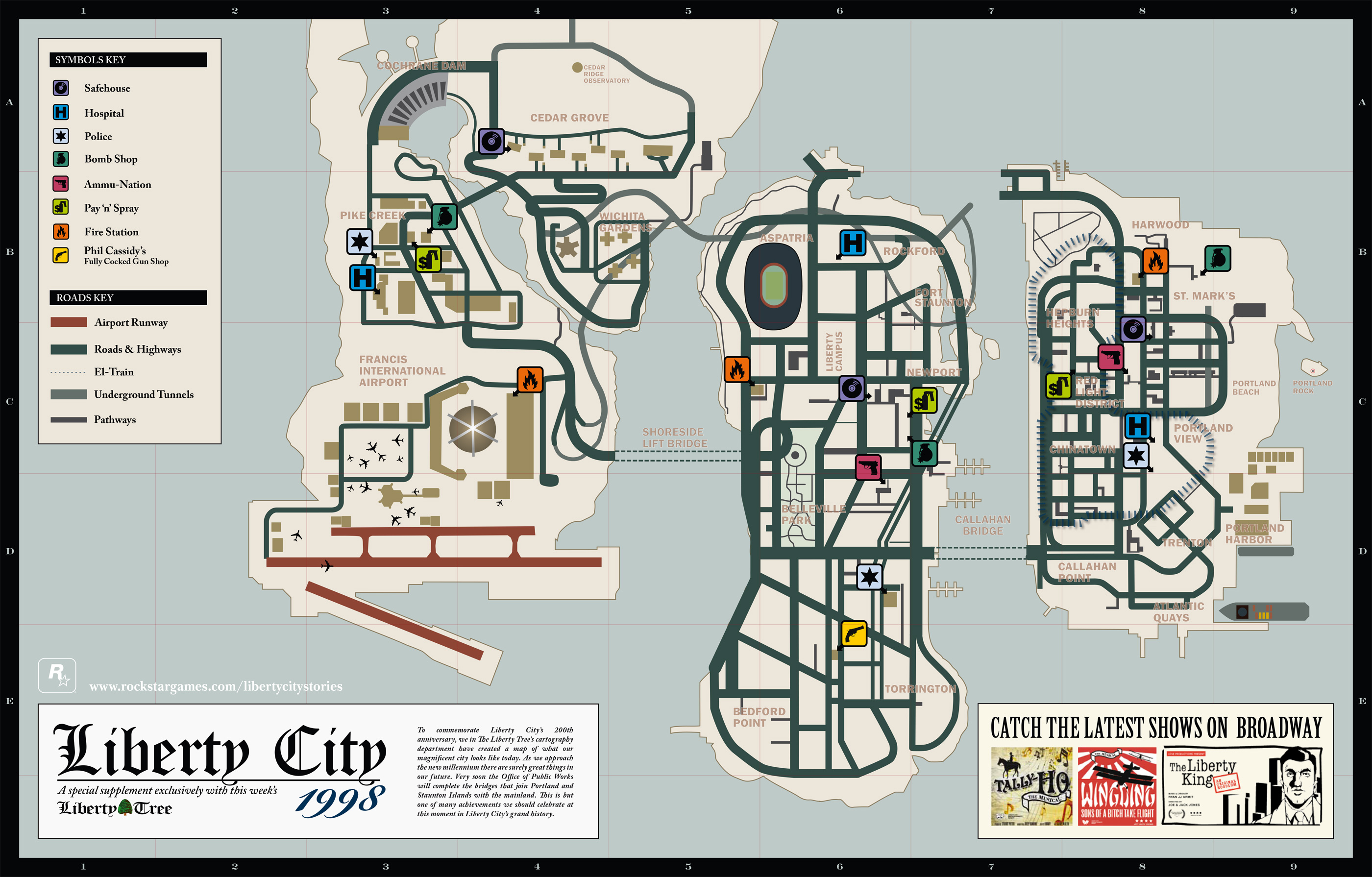 Карта GTA 4 (Liberty City), GTA IV map